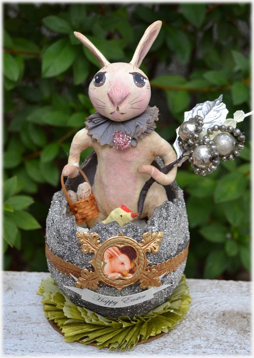 Spun Cotton Easter Rabbit